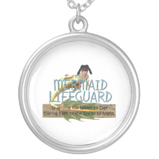TEE Mermaid Lifeguard Silver Plated Necklace