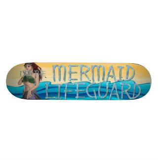 TEE Mermaid Lifeguard Skateboard Deck