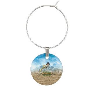 TEE Mermaid Lifeguard Wine Glass Charm