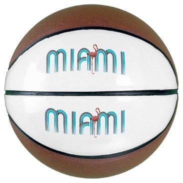 Beach Themed TEE Miami Basketball