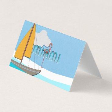 Beach Themed TEE Miami Business Card