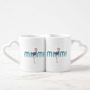 Beach Themed TEE Miami Coffee Mug Set