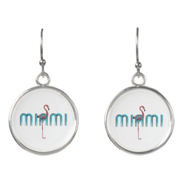 Beach Themed TEE Miami Earrings