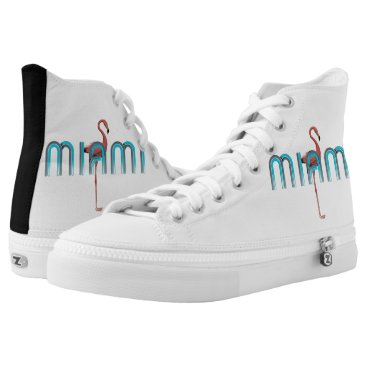 Beach Themed TEE Miami High-Top Sneakers