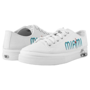 Beach Themed TEE Miami Low-Top Sneakers