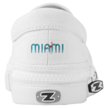 Beach Themed TEE Miami Slip-On Sneakers