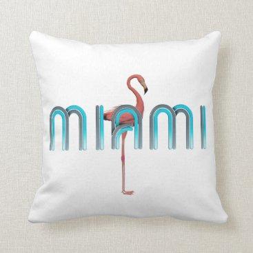 Beach Themed TEE Miami Throw Pillow