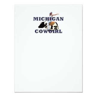 TEE Michigan Cowgirl Card