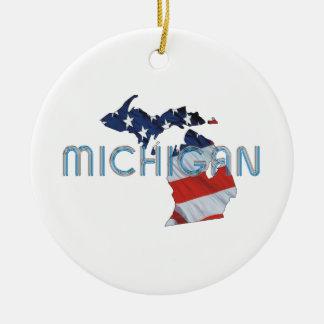 TEE Michigan Patriot Ceramic Ornament