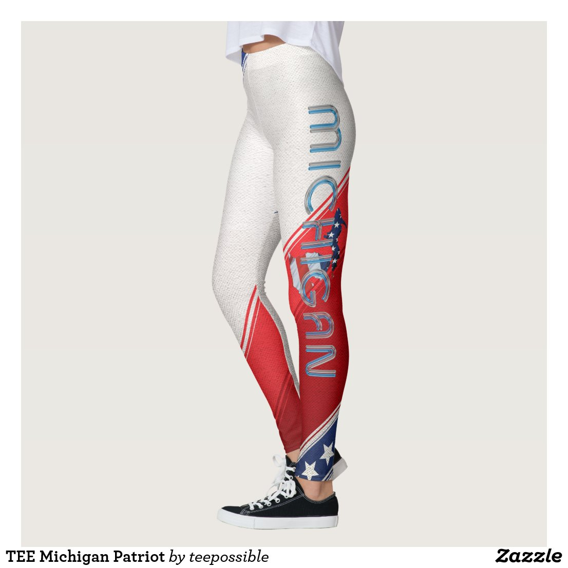 TEE Michigan Patriot Leggings