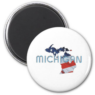 TEE Michigan Patriot Magnets