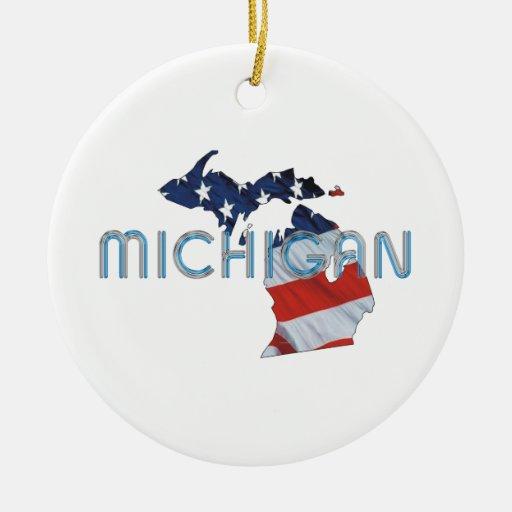 TEE Michigan Patriot Ornaments