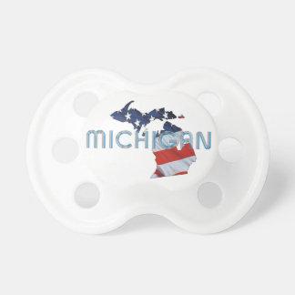 TEE Michigan Patriot Baby Pacifiers