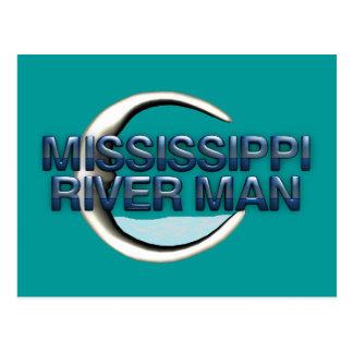 TEE Mississippi River Man Postcard