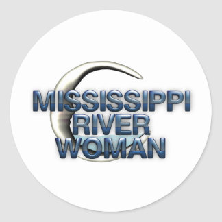 TEE Mississippi River Woman Classic Round Sticker