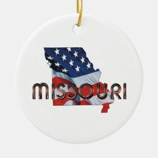 TEE Missouri Patriot Ceramic Ornament