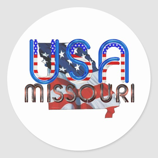TEE Missouri Patriot Classic Round Sticker