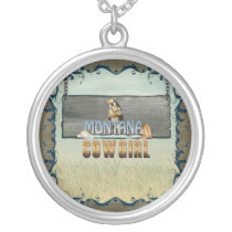 TEE Montana Cowgirl Silver Plated Necklace