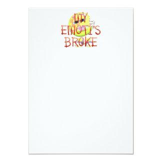 TEE My Emoti's Broke 5x7 Paper Invitation Card