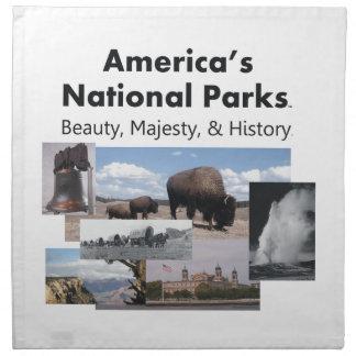 TEE National Park Slogan Printed Napkin