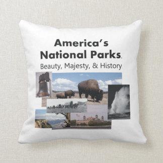 TEE National Park Slogan Throw Pillows