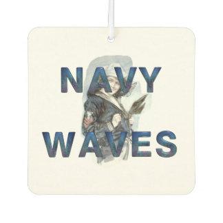 TEE Navy Waves Car Air Freshener