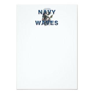 TEE Navy Waves Card