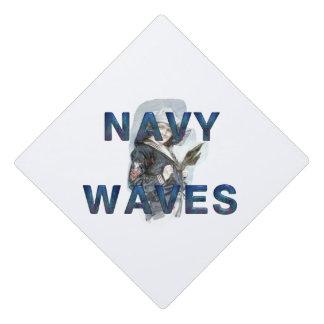 TEE Navy Waves Graduation Cap Topper