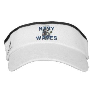 TEE Navy Waves Headsweats Visor