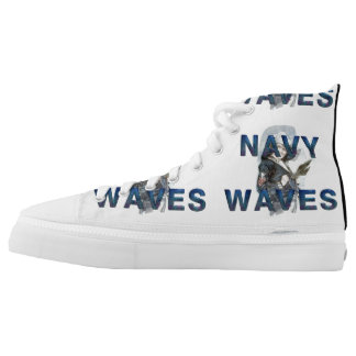 TEE Navy Waves High-Top Sneakers