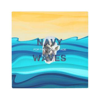 TEE Navy Waves Metal Print