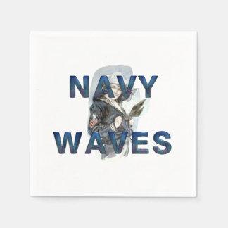 TEE Navy Waves Napkin