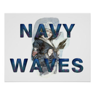 TEE Navy Waves Poster