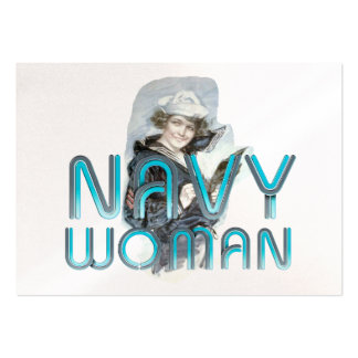 TEE Navy Woman Business Card Template