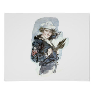 TEE Navy Woman Posters