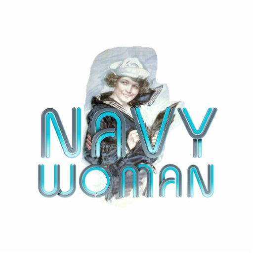 TEE Navy Woman Statuette