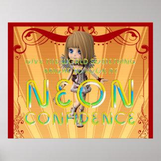 TEE Neon Confidence Poster