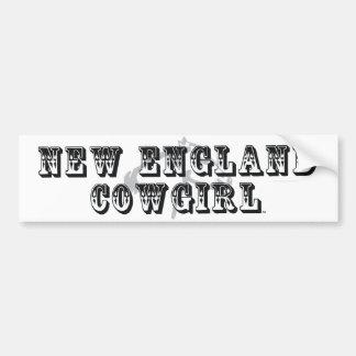TEE New England Cowgirl Bumper Sticker