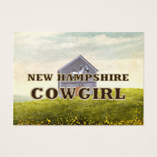 TEE New Hampshire Cowgirl Business Card