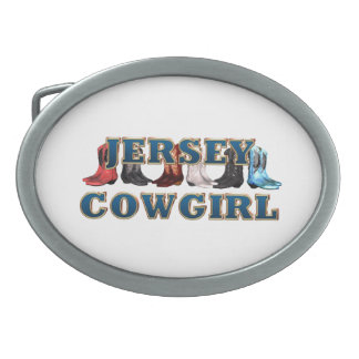 TEE New Jersey Cowgirl Oval Belt Buckle