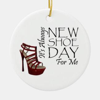 TEE New Shoe Day Ceramic Ornament