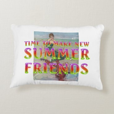 TEE New Summer Friends Accent Pillow
