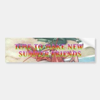 TEE New Summer Friends Bumper Sticker