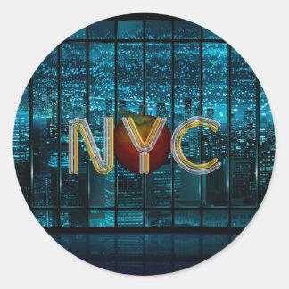 TEE New York City Classic Round Sticker