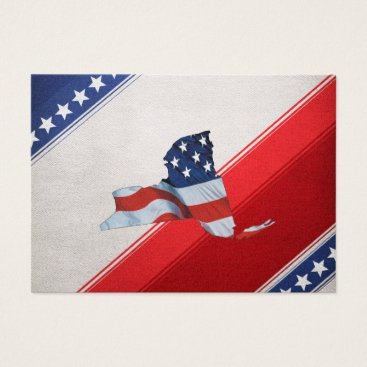 USA Themed TEE New York Patriot Business Card