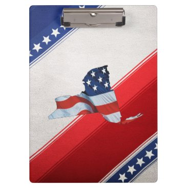 USA Themed TEE New York Patriot Clipboard