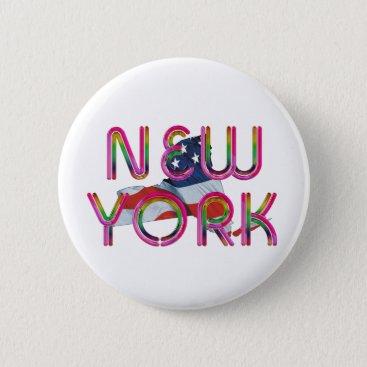 TEE New York Patriot Pinback Button