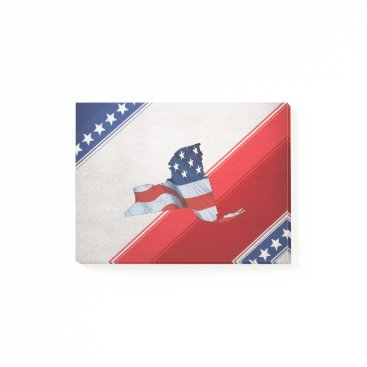 USA Themed TEE New York Patriot Post-it Notes