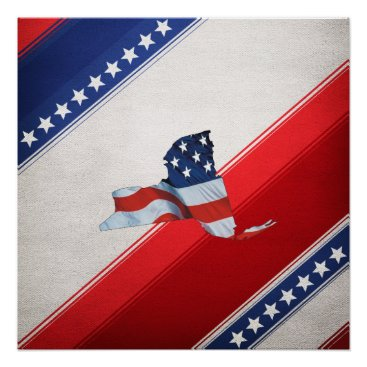 USA Themed TEE New York Patriot Poster