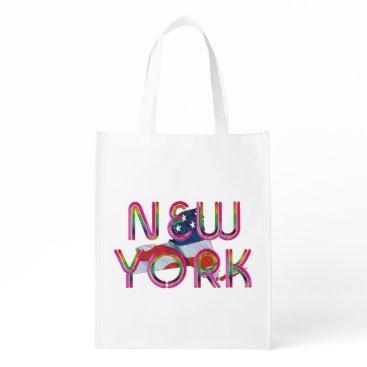 USA Themed TEE New York Patriot Reusable Grocery Bag